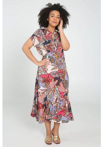 PAPRIKA Ilga suknelė »V-Ausschnitt bedruckt«