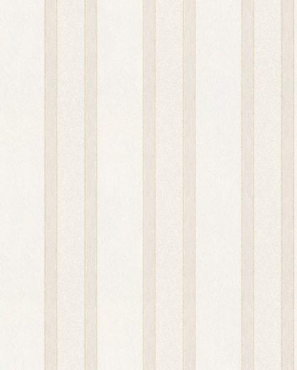 Marburg Vliestapete »weiß-beige«, Streifen, restlos abziehbar