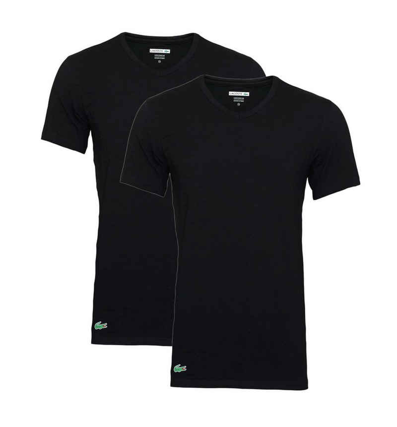 Lacoste T-Shirt »Basic V-Ausschnitt« (Packung, 2-tlg., 2er-Pack)