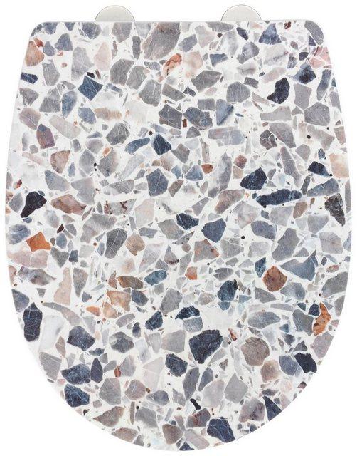 WCs und Zubehör - WENKO WC Sitz »Terrazzo High Gloss« (1 St), Thermoplast  - Onlineshop OTTO