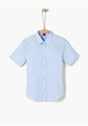 Popeline-Kurzarmhemd_für Jungen