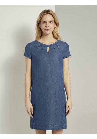 TOM TAILOR Džinsinė suknelė »Lyocell Marškinėliai...