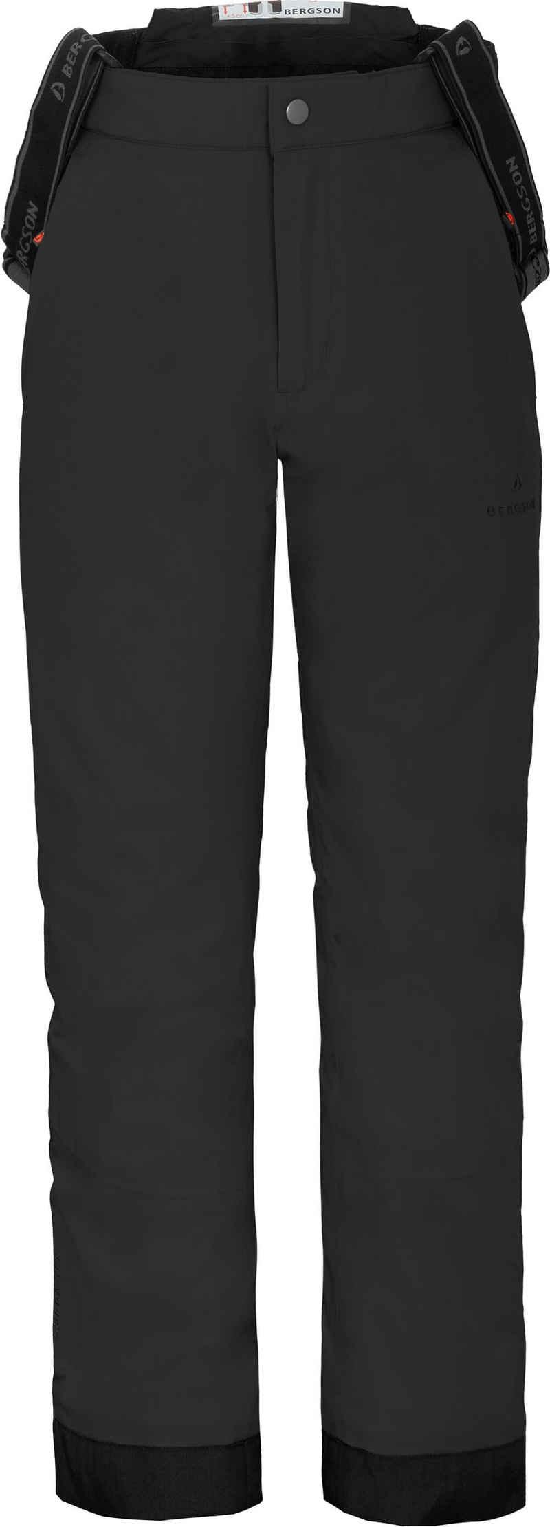 Bergson Skihose »PELLY« Kinder Skihose, wattiert, 20000 mm Wassersäule, Normalgrößen, schwarz