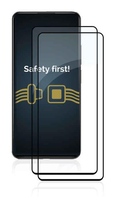 Savvies Schutzfolie »2x Savvies Xtreme Glass 2.5D Full Cover Panzerglas für Xiaomi Mi 11 Lite 5G (schwarz)«, (2 Stück)