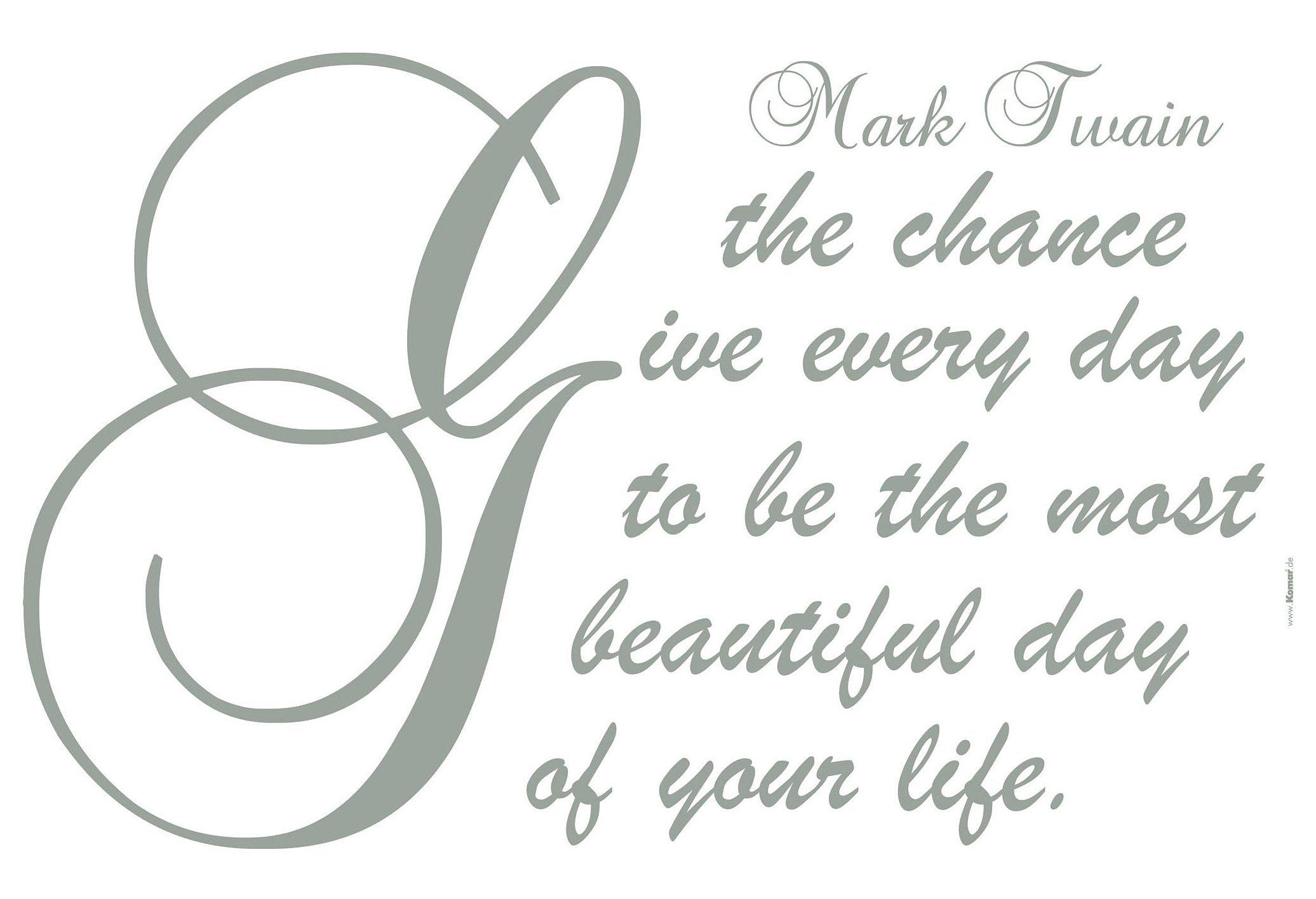 Wandtattoo, Komar, »Mark Twain«