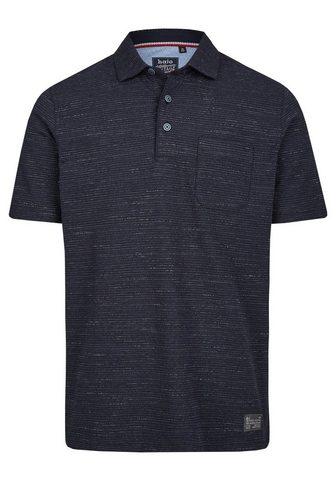 Jacquard-Poloshirt из Effektgarn