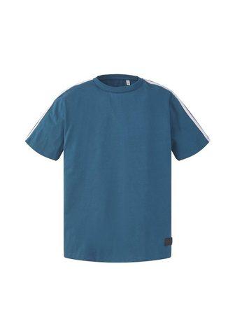 TOM TAILOR Marškinėliai Marškinėliai su Tape-Deta...