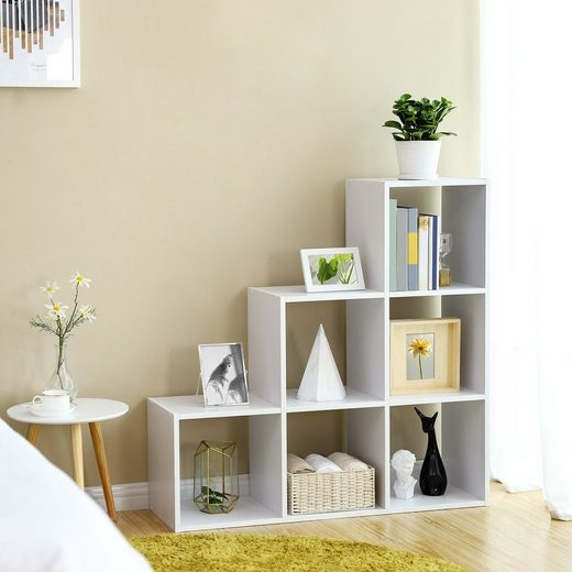 VASAGLE Bücherregal »LBC63WT«, Treppenregal, 6-Würfel, weiß