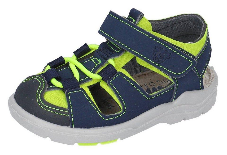 pepino by ricosta gery sandale mit wms weitenmesssystem weite mittel blau neongelb