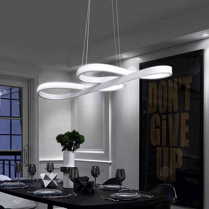 ZMH Pendelleuchte »LED esstisch Hängeleuchte Schwarz 47W Dimmbar mit den Fernbedienung Hängelampe Wohnzimmer Arbeitszimmer«