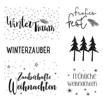 Rayher Stempel »Clear Stamps - Weihnachtsgrüße, 6 Motive«