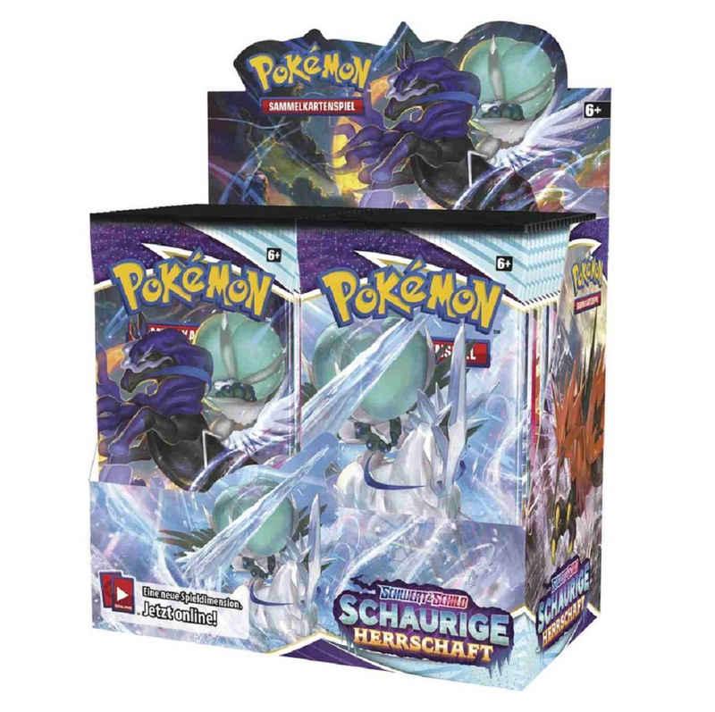 POKÉMON Sammelkarte »Pokémon – Schwert & Schild - SCHAURIGE HERRSCHAFT - 36 x Boosterpackung im original Display verpackt - deutsch«