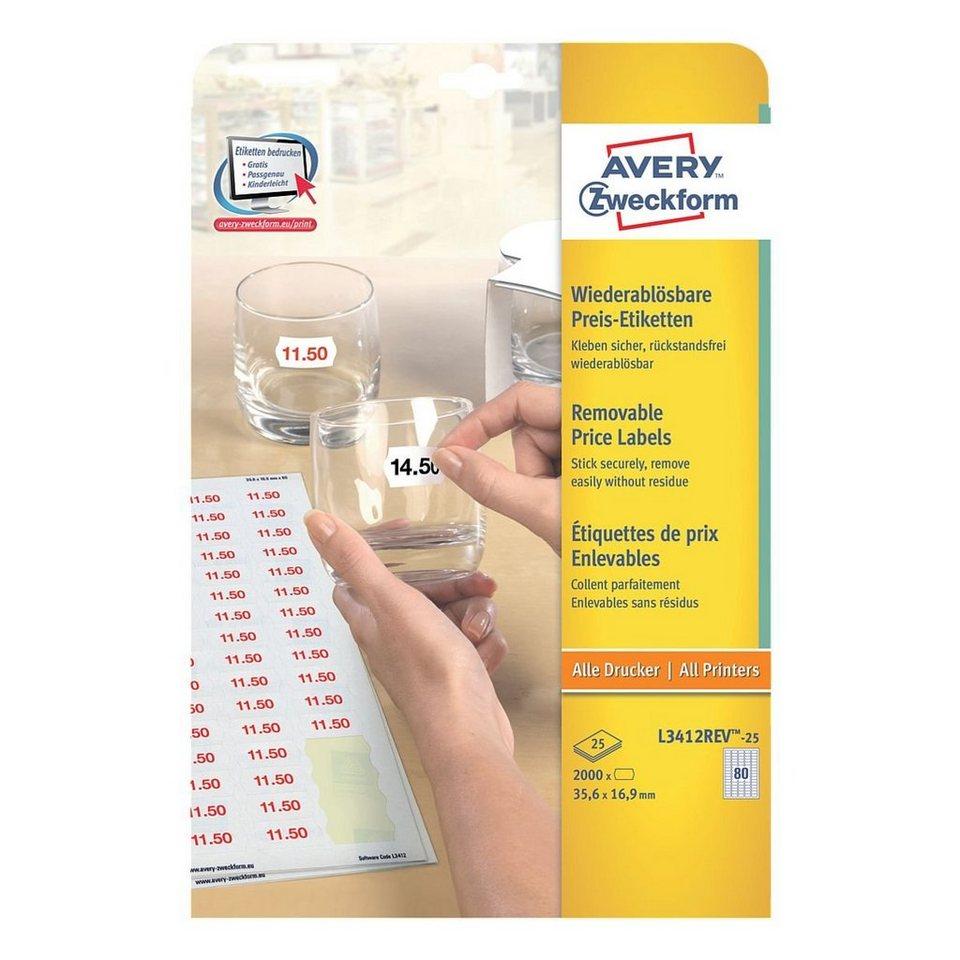 Avery Zweckform 2000er-Pack Universal Klebeetiketten »L3412REV-25«
