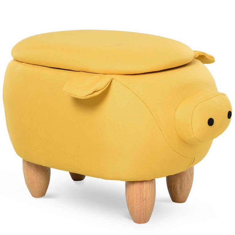 HOMCOM Hocker »Kinderhocker in Schweinchenform«