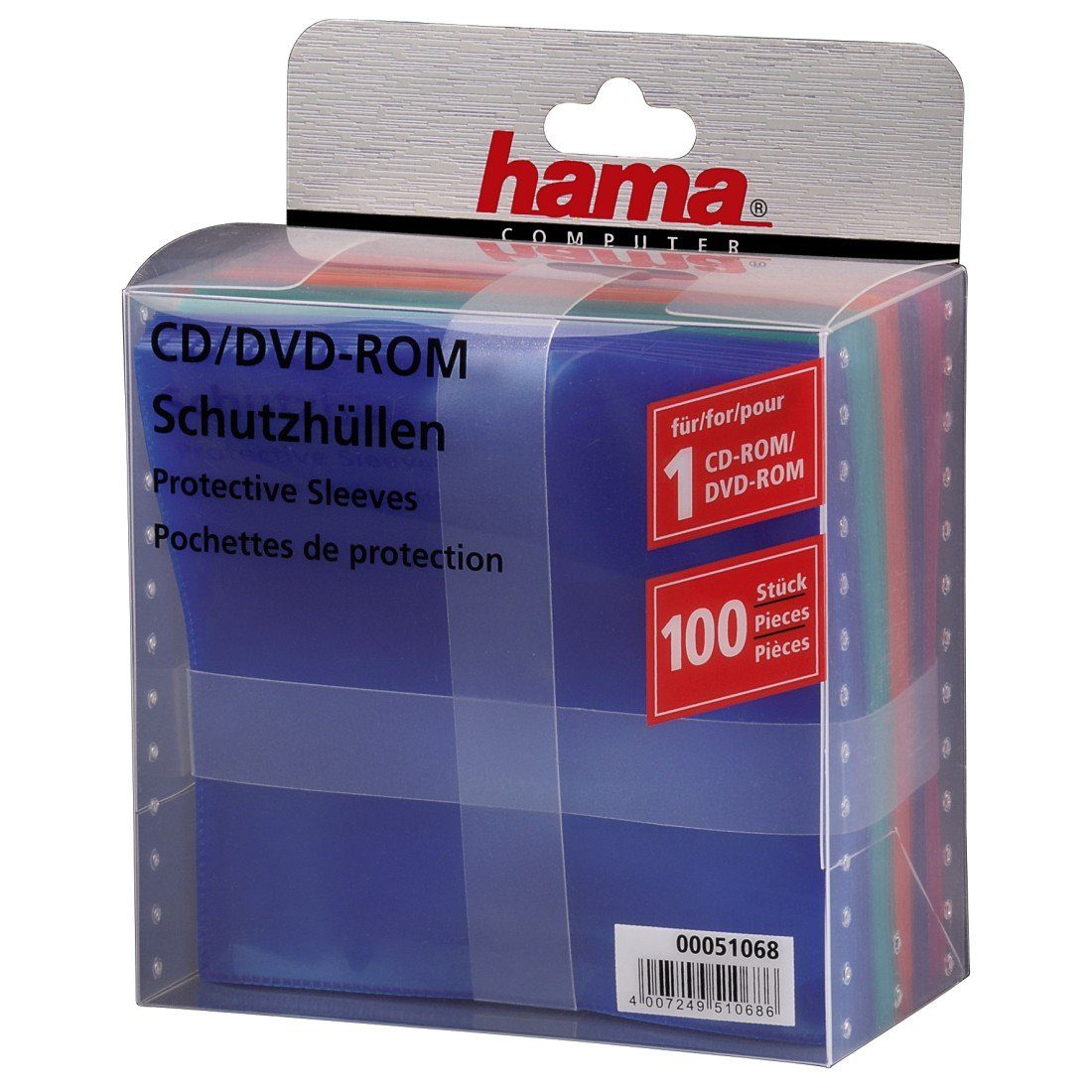 Hama CD-/DVD-Schutzhüllen 100, Farbig