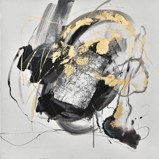 KUNSTLOFT Gemälde »Ordnung und Chaos«, handgemaltes Bild auf Leinwand