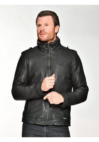 Куртка кожаная с съемный искусственная...