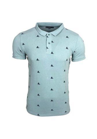 RUSTY NEAL Polo marškinėliai su Segelboot-Motiv