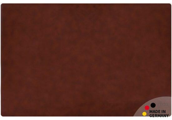 matches21 HOME & HOBBY Schreibtischplatte »Schreibtischunterlage Upcycling Leder mittelbraun Tischunterlage 60x40 cm«