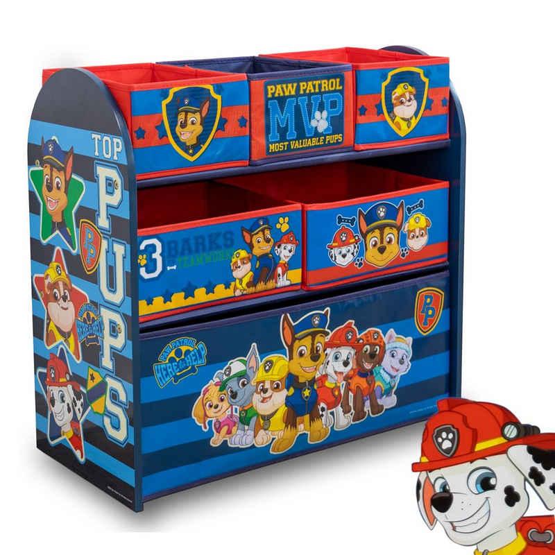 W&O Products B.V. Standregal »PAW PATROL Regal«, Aufbewahrungsbox mit sechs Fächern, Spielzeugregal