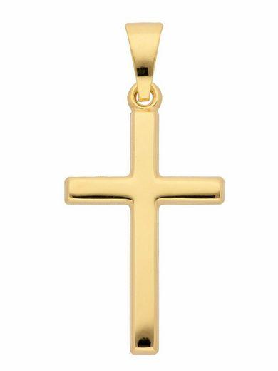 Adelia´s Kettenanhänger »333 Gold Kreuz Anhänger«, Goldschmuck für Damen & Herren