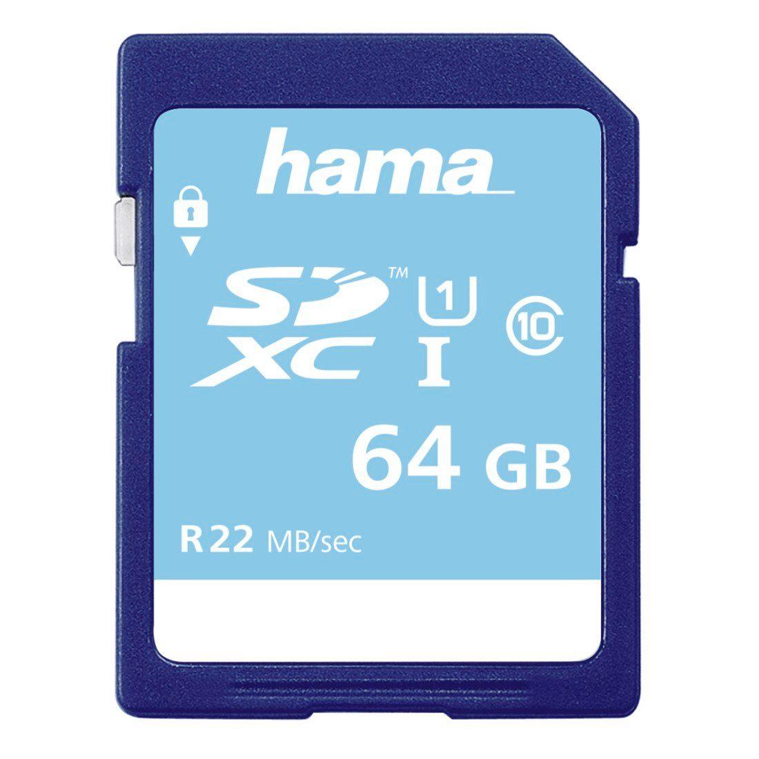 Hama Speicherkarte SDXC 64GB Class 10 UHS-I 22MB/s »für HD-Videoaufnahmen geeignet«