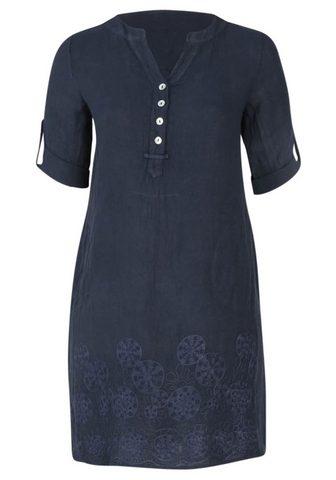 Платье »V-Ausschnitt Jacquardmus...