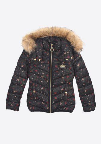 Куртка стеганая с красивым Blätte...