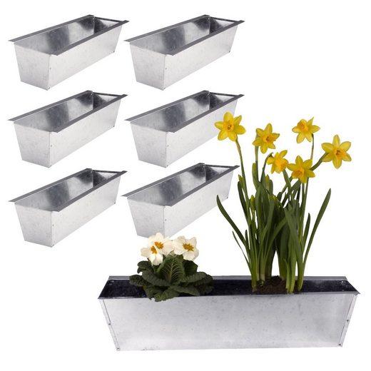 BigDean Blumenkasten »6er Set Pflanzkasten für Europalette − aus Metall verzinkt« (6 Stück)