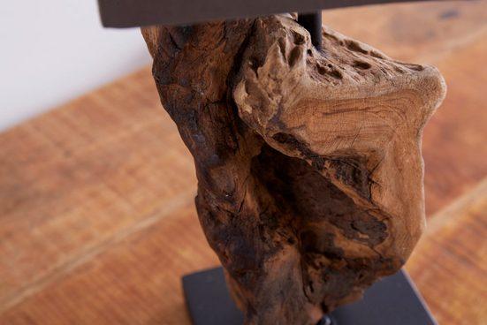 riess-ambiente Tischleuchte »HYPNOTIC 45cm FARBWAHL«  Fuß aus Massivholz
