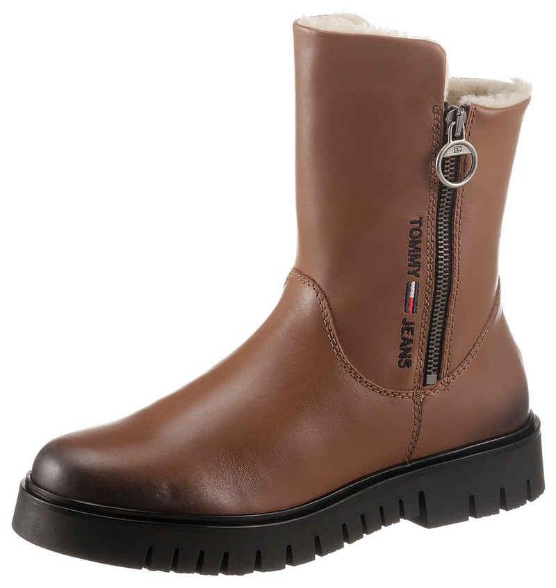 Tommy Jeans »VISIBLE WARMLINED FLAT BOOT« Winterboots mit Logostickerei