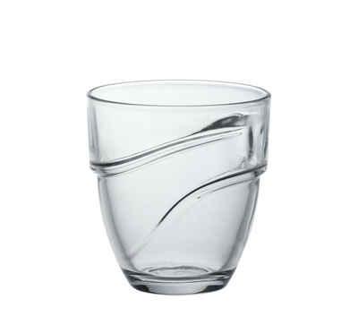 Duralex Tumbler-Glas »Wave«, Glas, Trinkglas Wasserglas Saftglas 160ml Glas transparent 6 Stück