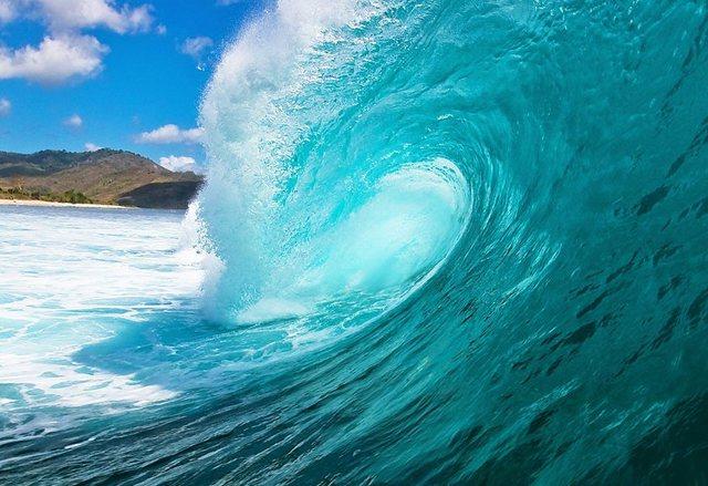 Architects Paper Fototapete, Die perfekte Welle, blau