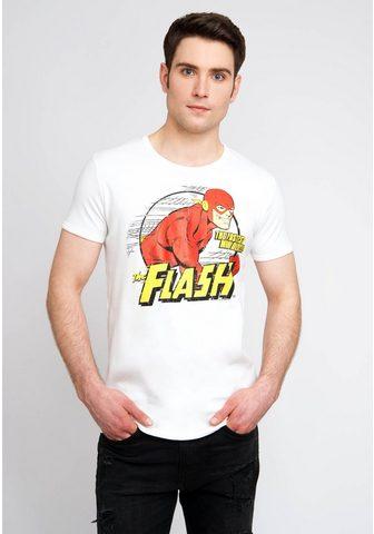 LOGOSHIRT Marškinėliai su puikus The Flash-Print...
