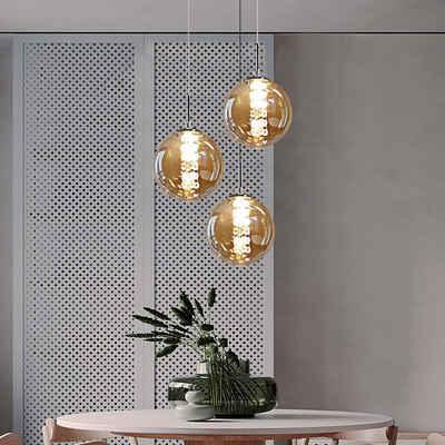 ZMH Pendelleuchte »Pendelleuchte esstisch Pendellampe Höhenverstellbar Kronleuchter Hängeleuchte aus Glas Küchen Wohnzimmerlampe Schlafzimmerlampe Flurlampe«