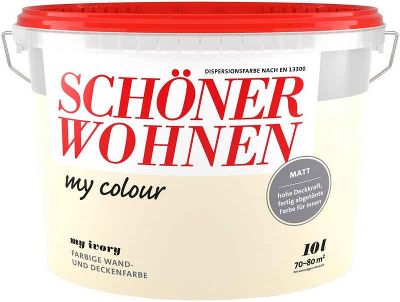 SCHÖNER WOHNEN-Kollektion Wand- und Deckenfarbe »my colour - my ivory«, matt, 10 l