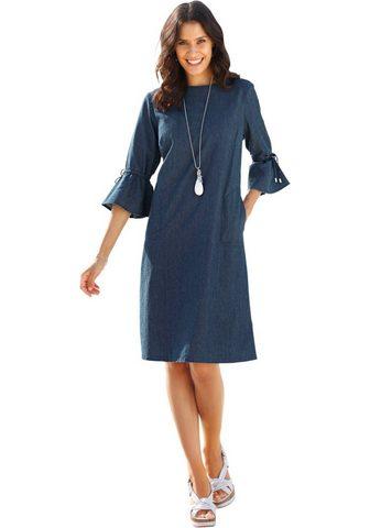 INSPIRATIONEN Džinsinė suknelė iš minkštas Džinsai