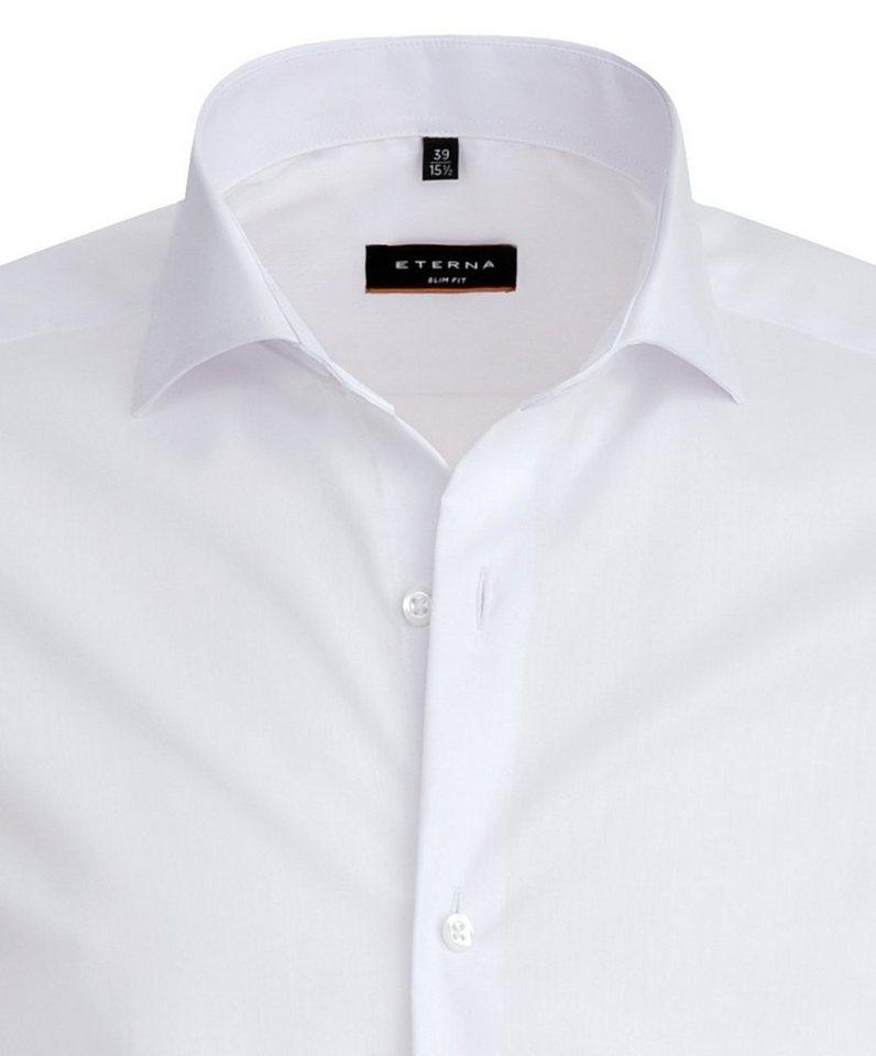 ETERNA Langarm Hemd »SLIM FIT« in weiß