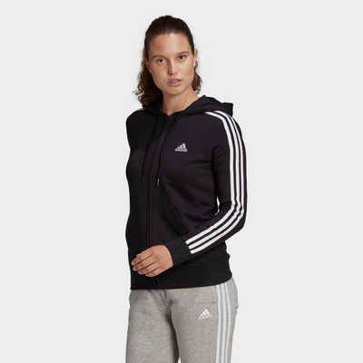 adidas Performance Kapuzensweatjacke »WOMEN 3STRIPES FT FULLZIP HOODIE«