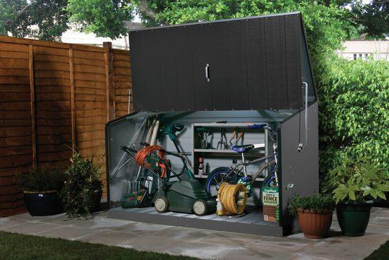 TRIMETALS Fahrrad-/Mülltonnenunterstand »Storeguard«, für 2x240 l, Stahl, BxTxH: 196x89x113 cm