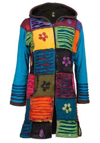 DEPROC ACTIVE Megztas paltas »Patchwork paltas gėlė ...