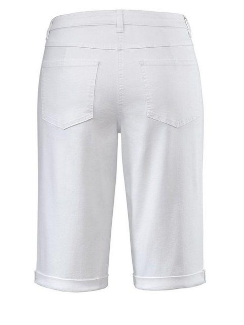 Hosen - Angel of Style by HAPPYsize Jeans Shorts mit Umschlag › weiß  - Onlineshop OTTO