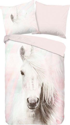 Kinderbettwäsche »Fluffy«, good morning, mit Pferd