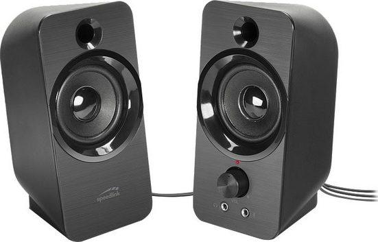 Speedlink DAROC Stereo Lautsprecher schwarz PC-Lautsprecher
