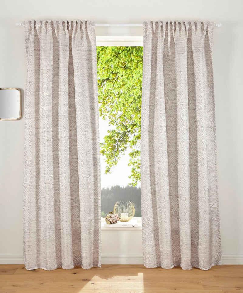 Vorhang »GARCIA«, Guido Maria Kretschmer Home&Living, Multifunktionsband (1 Stück), mit leicht glänzende Struktur