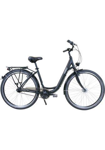 HAWK Bikes Dviratis »HAWK City Wave Easy Black« 7...