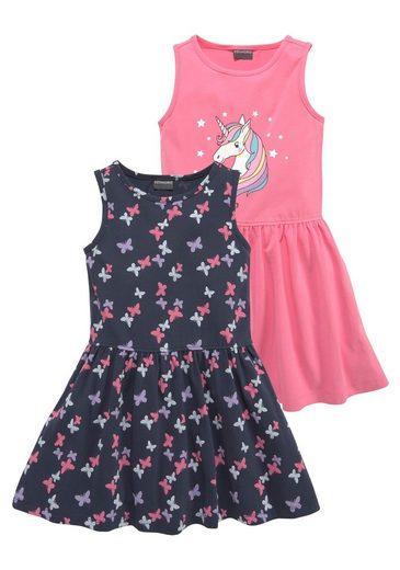 KIDSWORLD Jerseykleid (Packung, 2er-Pack) mit schönem Muster und tollem Printmotiv