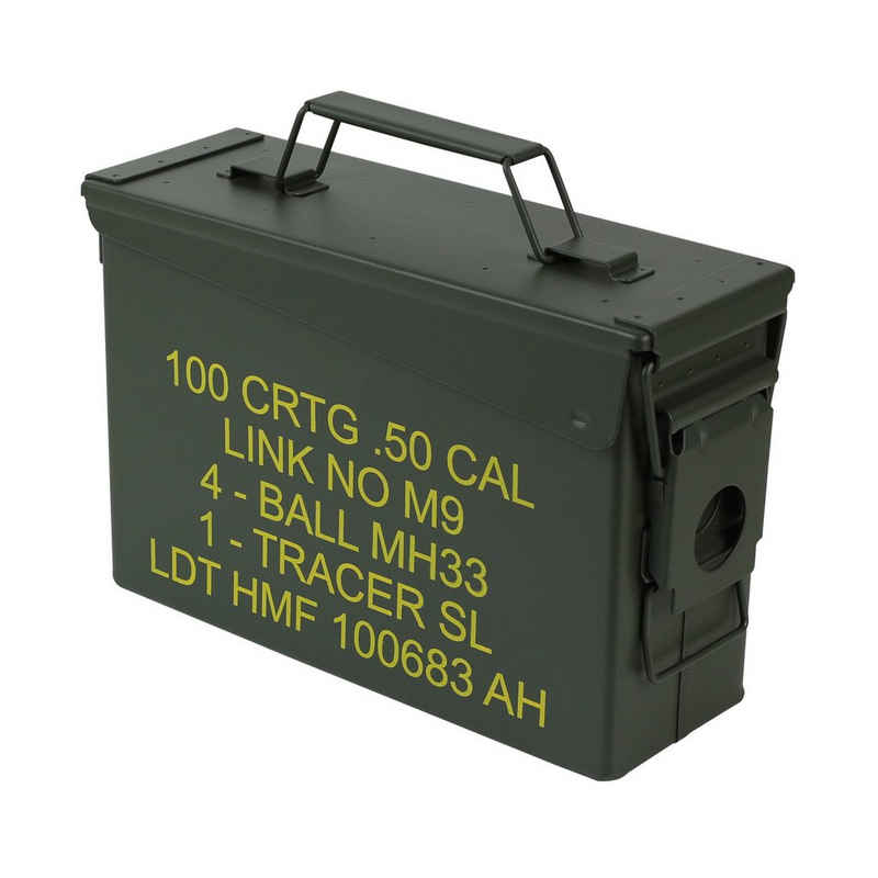HMF Aufbewahrungsbox »Munitionskiste«, US Ammo Box, Metallkiste, 27,5 x 17,5 x 9,5 cm, grün