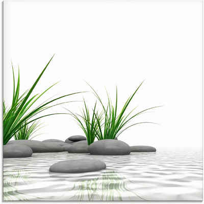 Artland Glasbild »3 D Steine«, Zen (1 Stück)