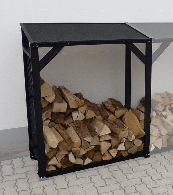 Küchenregale - promadino Kaminholzregal Erweiterung »Speyer«, BxTxH 118,5x68x148 cm  - Onlineshop OTTO